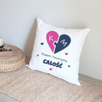 Poduszka z sercem personalizowana