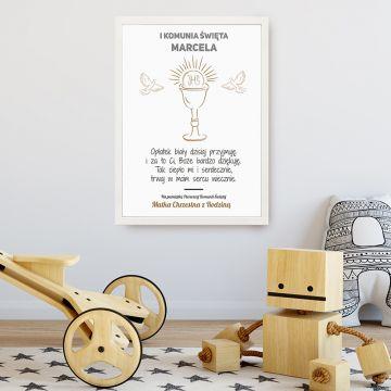 Plakat komunijny dla dziecka 30 x 40 cm (personalizowany)