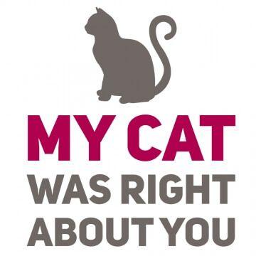 Kubek z humorystycznym hasłem dla właściciela kota