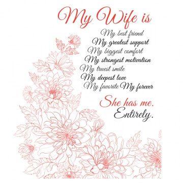 Kubek z romantycznym napisem dla żony