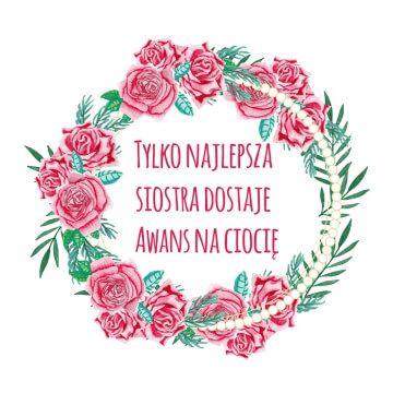 Kubek dla siostry w kwiaty