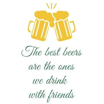 """Koszulka z nadrukiem """"motto życiowe dla piwosza"""""""